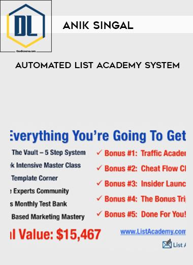 Anik Singal – Automated List Academy System