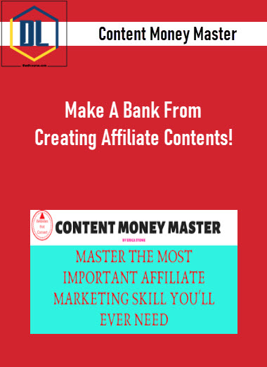 Content Money Master – Make A Bank From Creating Affiliate Contents!